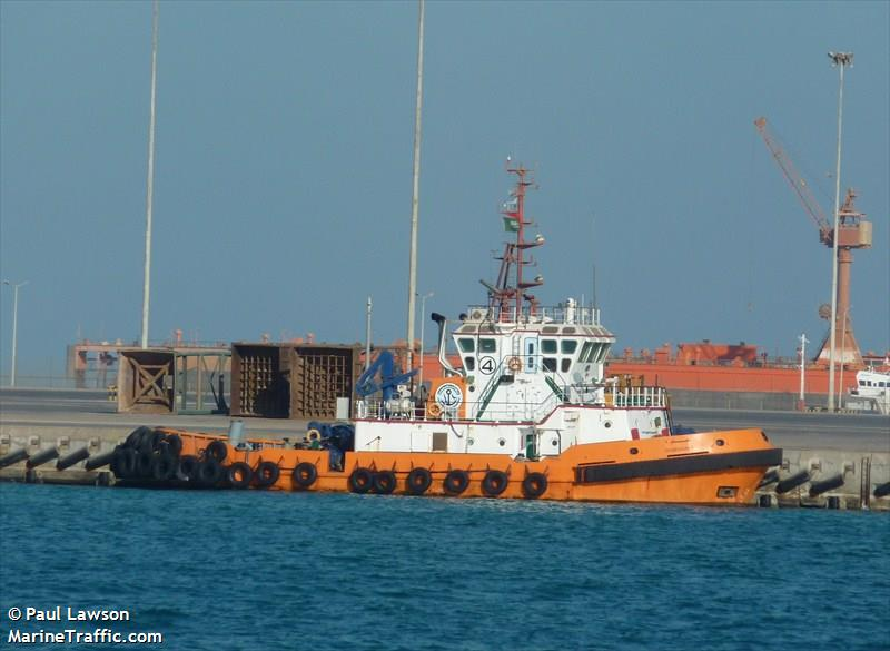 Vessel details for: DAMMAM 4 (Tug) - IMO 9247247, MMSI