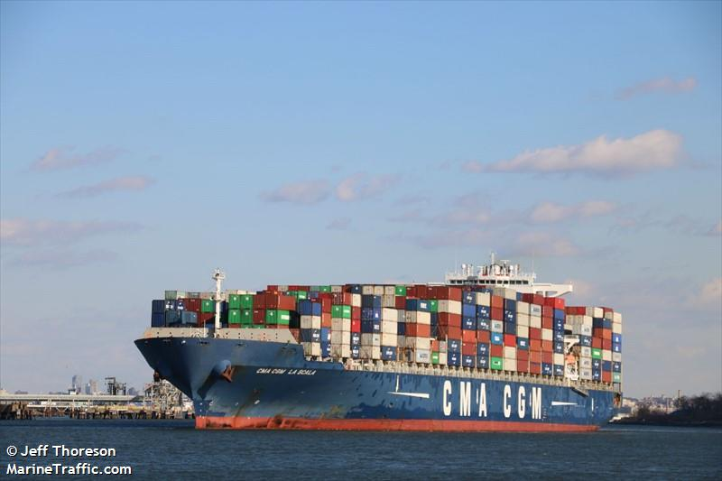 vessel details for cma cgm la scala container ship imo 9450612