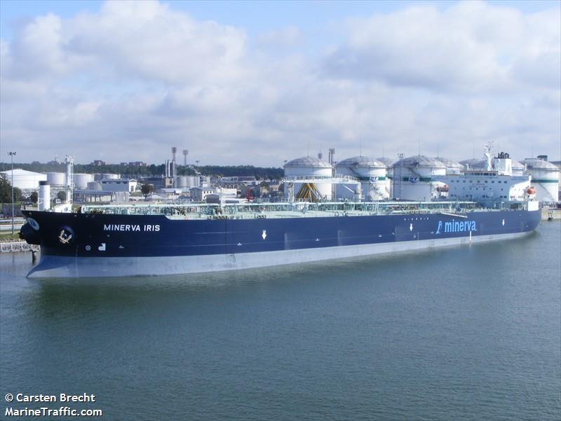 Детали судна: MINERVA IRIS (Crude Oil Tanker) - IMO 9285861, MMSI 240243000, Call Sign SVCP Зарегистрировано в Greece    AIS Marine Traffic
