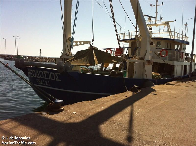 Vessel details for theodosios fishing vessel imo for Fishing access near me