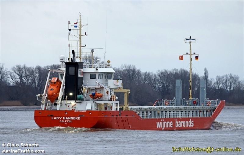 Vessel details for: LADY HANNEKE (Cargo) - IMO 9828352, MMSI