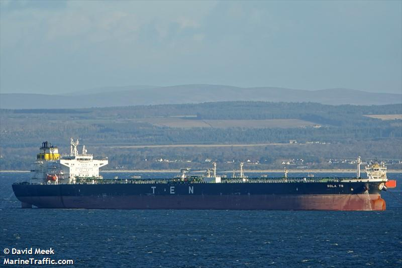 Vessel details for: SOLA TS (Crude Oil Tanker) - IMO 9724350, MMSI 248020000, Call Sign 9HA4480 Registered in Malta  | AIS Marine Traffic