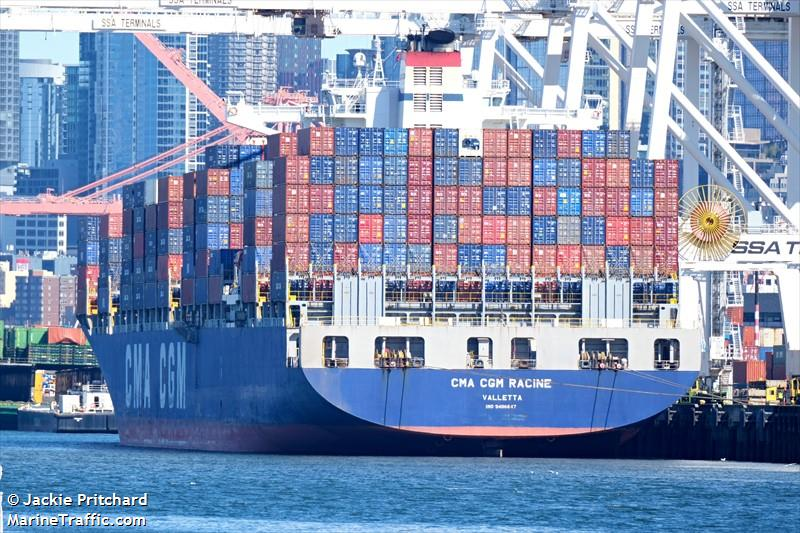 Vessel details for: CMA CGM RACINE (Container Ship) - IMO
