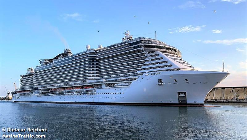 Vessel details for: MSC SEAVIEW (Passenger Ship) - IMO 9745378, MMSI 248717000, Call Sign ...