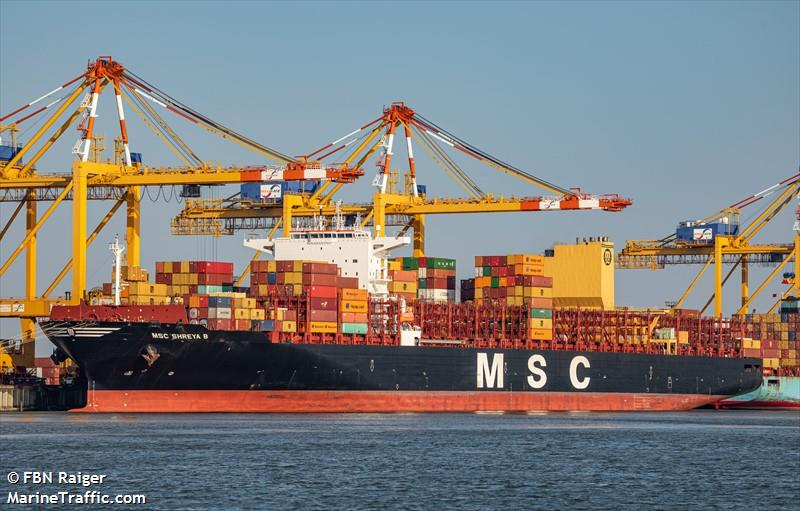 Vessel details for: MSC SHREYA B (Container Ship) - IMO 9778105