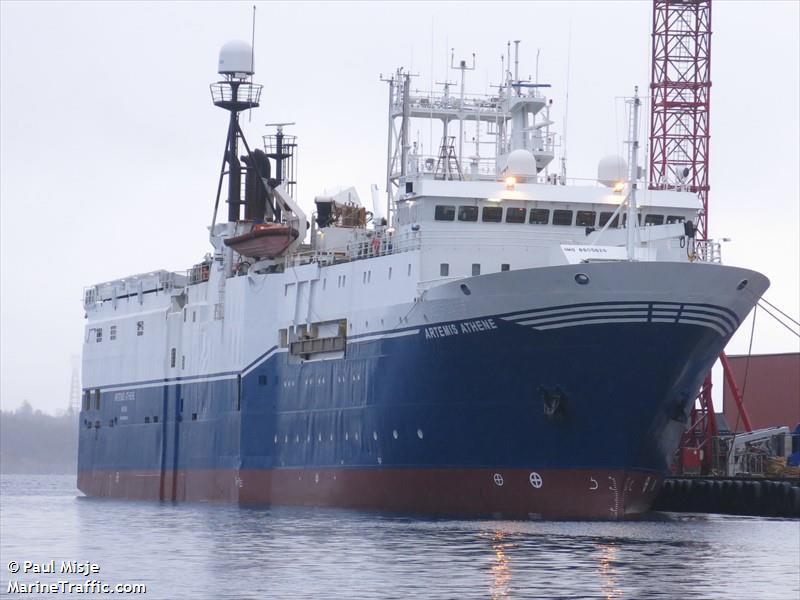 Vessel details for artemis athene research survey vessel for Artemis study
