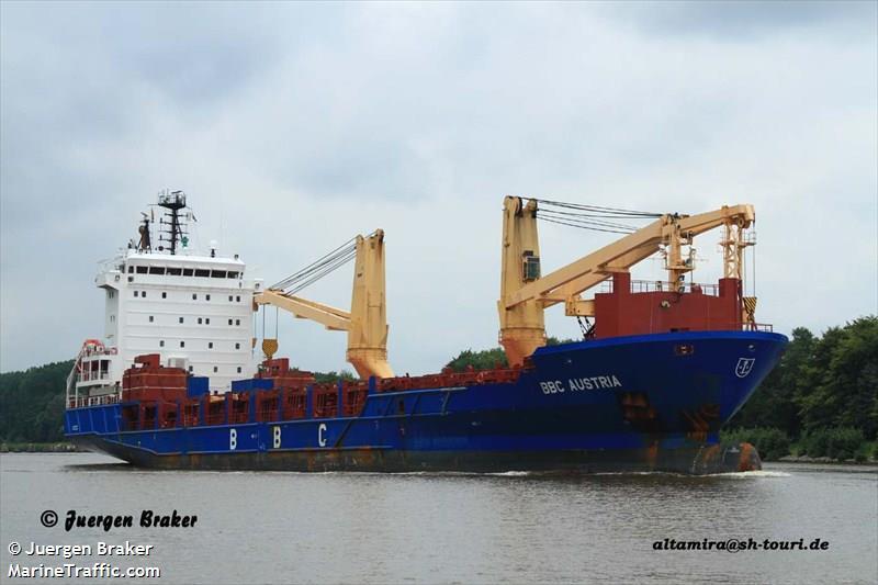 Vessel details for: BBC AUSTRIA (General Cargo) - IMO