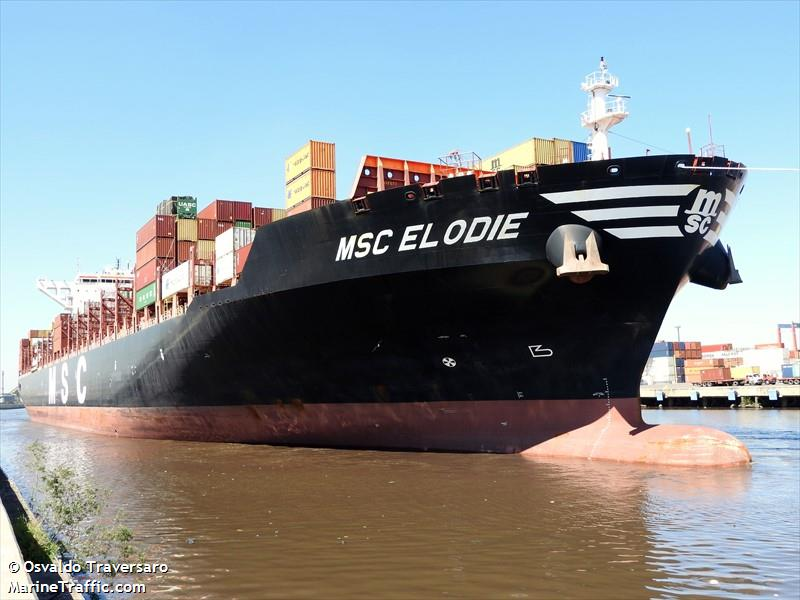 Vessel details for: MSC ELODIE (Container Ship) - IMO