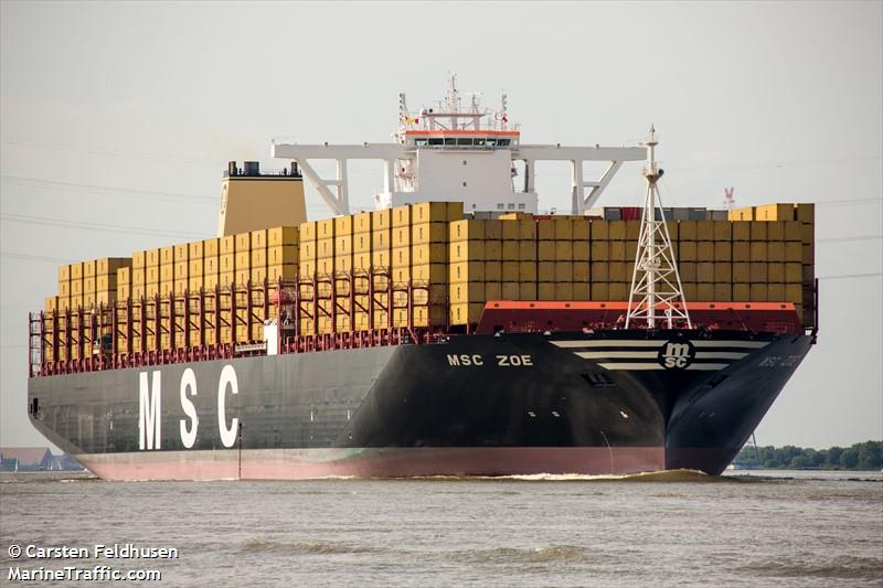 Vessel details for: MSC ZOE (Container Ship) - IMO 9703318 ...