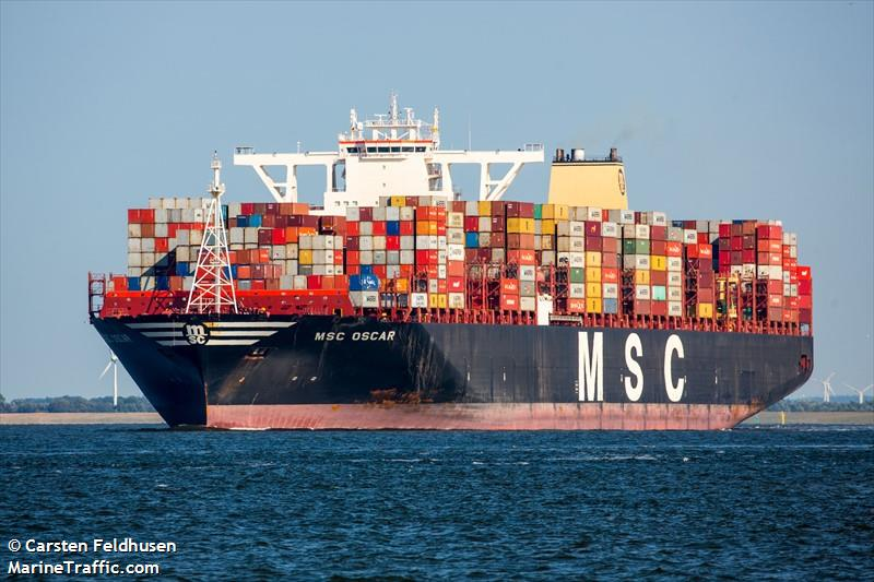 Vessel details for: MSC OSCAR (Container Ship) - IMO 9703291