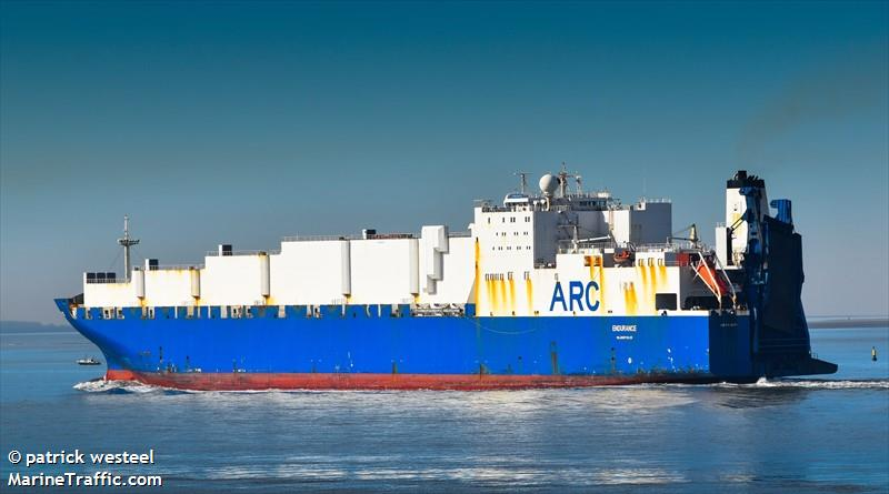 Vessel details for: ENDURANCE (Vehicles Carrier) - IMO