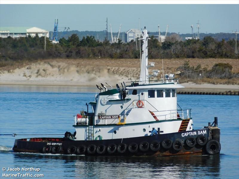Vessel details for: CAPTAIN SAM (Tug) - IMO 8984587, MMSI