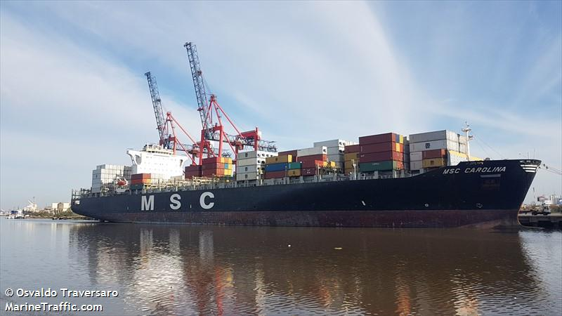 Vessel details for: MSC CAROLINA (Container Ship) - IMO 9295397