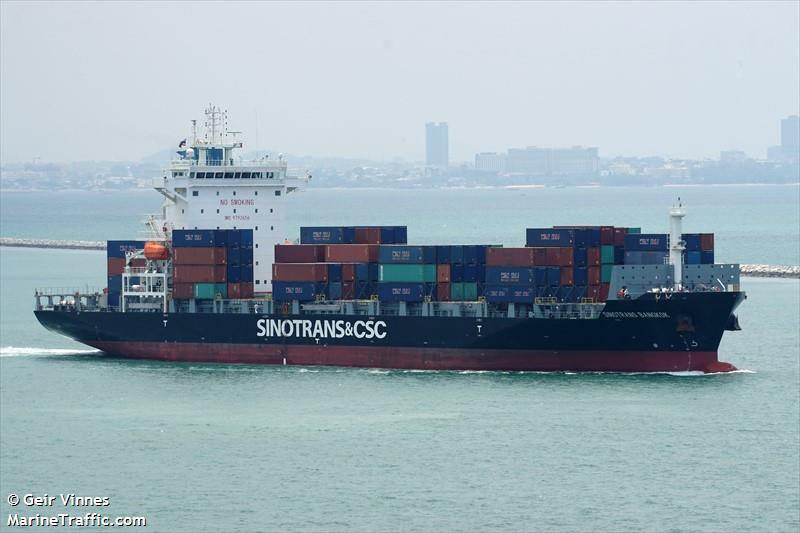 Vessel details for: SINOTRANS BANGKOK (Container Ship) - IMO 9792656