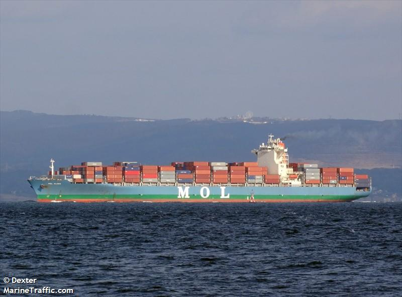 Vessel details for: MOL GLOBE (Container Ship) - IMO 9531909, MMSI