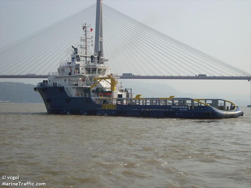 Vessel details for: TOPAZ KHOBAR (Anchor Handling Vessel