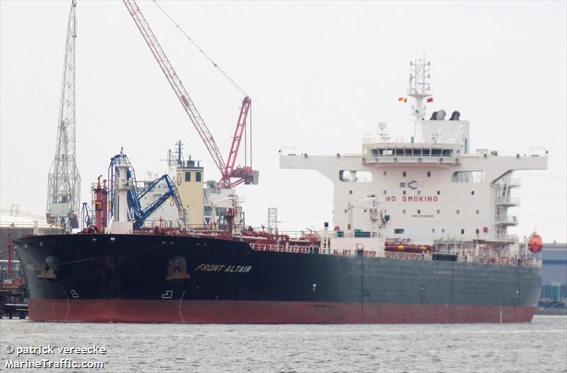Vessel details for: FRONT ALTAIR (Crude Oil Tanker) - IMO 9745902, MMSI 538007007, Call Sign V7UH9 Registered in Marshall Is  | AIS Marine Traffic