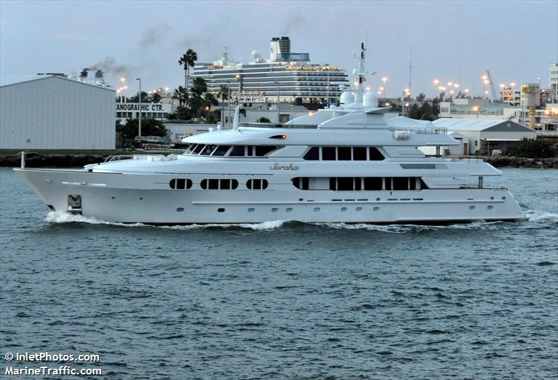 Vessel details for: SORCHA (Yacht) - IMO 9356787, MMSI ...