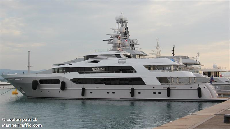Vessel details for: MY SEANNA (Yacht) - IMO 9024152, MMSI