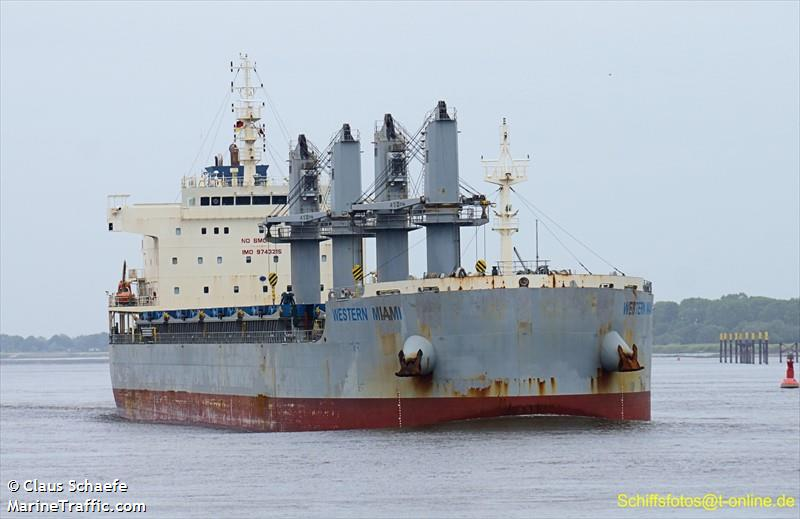 Vessel details for: WESTERN MIAMI (Bulk Carrier) - IMO
