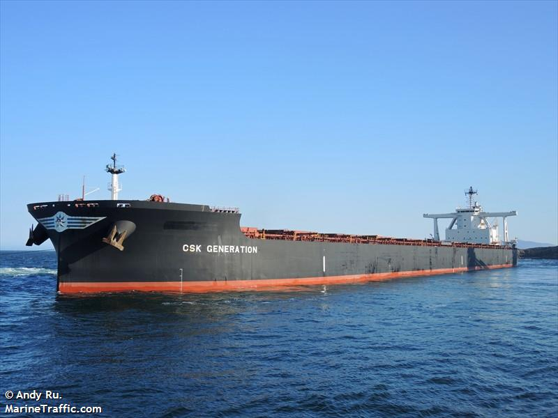 Vessel details for: CSK GENERATION (Bulk Carrier) - IMO