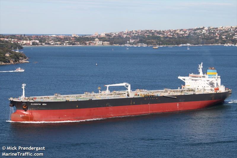 Vessel details for: BARENTS SEA (Crude Oil Tanker) - IMO 9192258