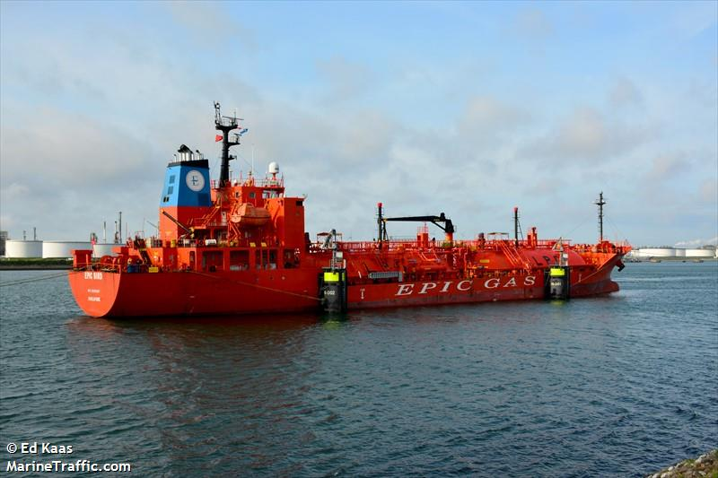 Vessel details for: EPIC BIRD (LPG Tanker) - IMO 9698367, MMSI