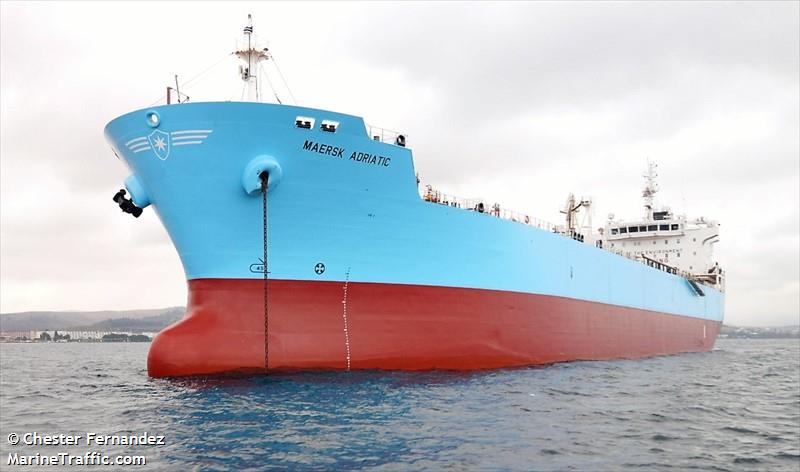 Vessel details for: MAERSK ADRIATIC (Oil/Chemical Tanker) - IMO