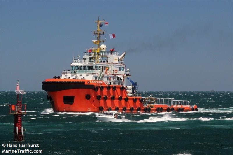 Vessel details for: LANPAN 26 (Tug) - IMO 9663544, MMSI 566682000