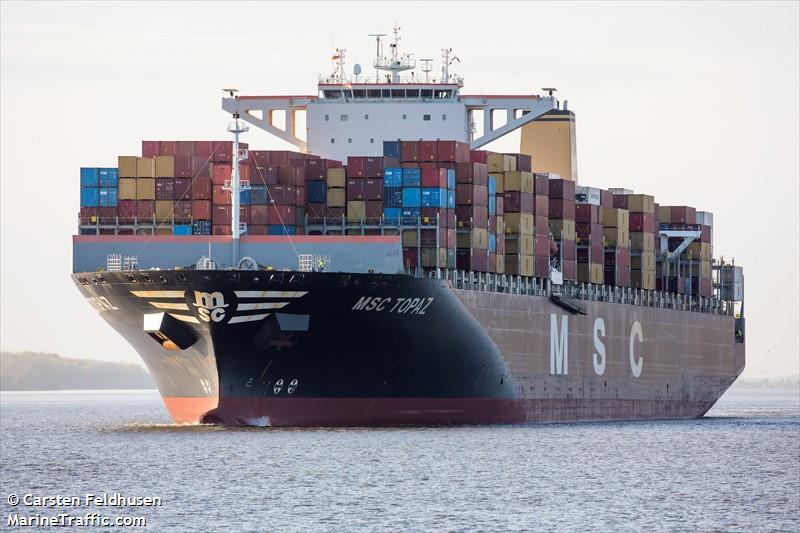 Vessel details for: MSC TOPAZ (Container Ship) - IMO 9502908, MMSI