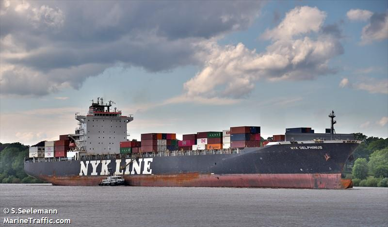 Vessel details for: NYK DELPHINUS (Container Ship) - IMO 9337652