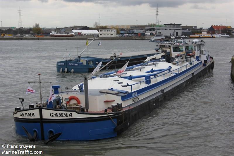 Vessel Details For Gamma Inland Motor Tanker Mmsi