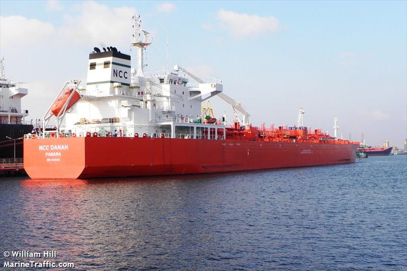 Vessel details for: NCC DANAH (Oil/Chemical Tanker) - IMO 9419541