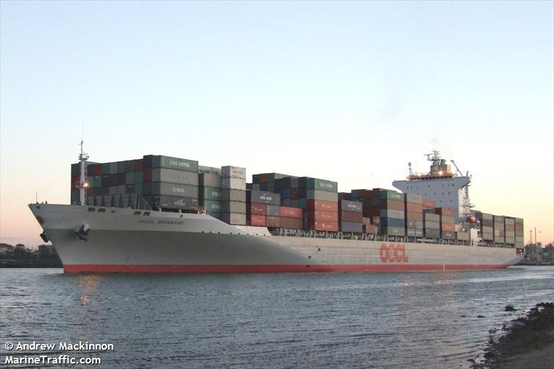 Vessel details for: OOCL BRISBANE (Container Ship) - IMO 9445502, MMSI 477541100, Call ...