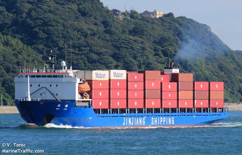 Qiu Jin Container Ship Imo 9102538 Vessel Details Balticshipping Com