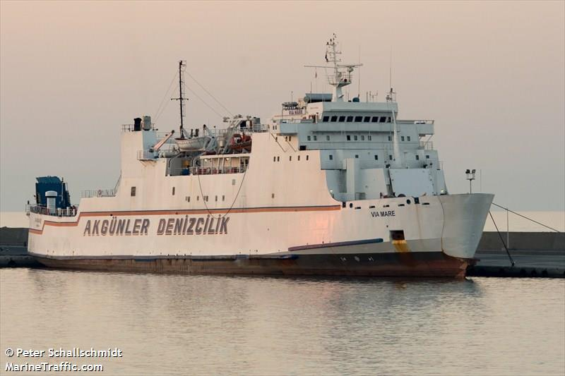 A picture of VIA MARE taken at Kyrenia Harbor, Northern Cyprus. Copyright ©Peter Schallschmidt