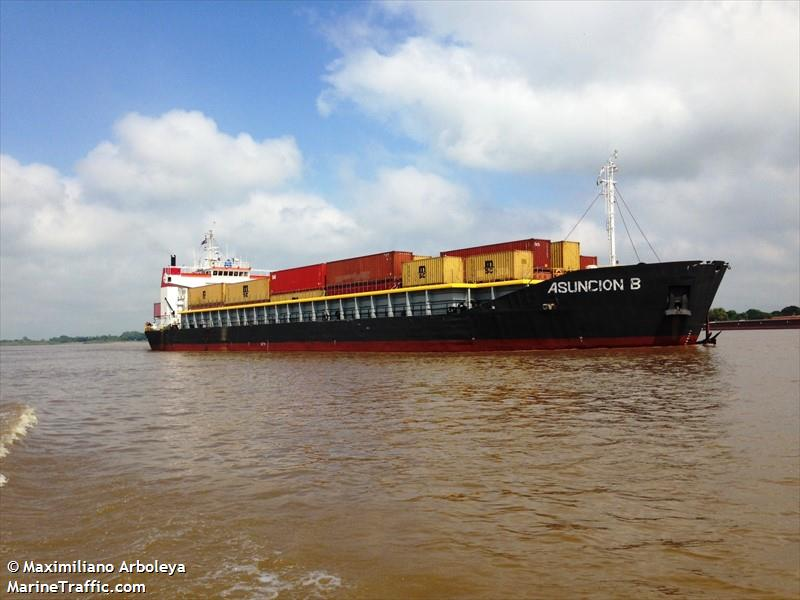 Vessel details for asuncion b cargo containership imo for Delivery asuncion