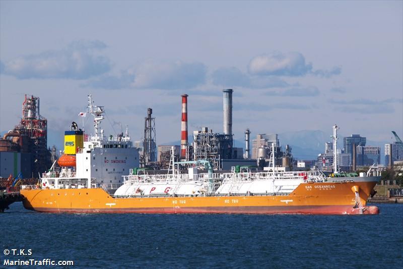 Vessel details for: GAS OCEANROAD (LPG Tanker) - IMO ...