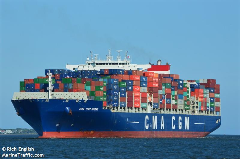 Vessel details for: CMA CGM RHONE (Container Ship) - IMO ...