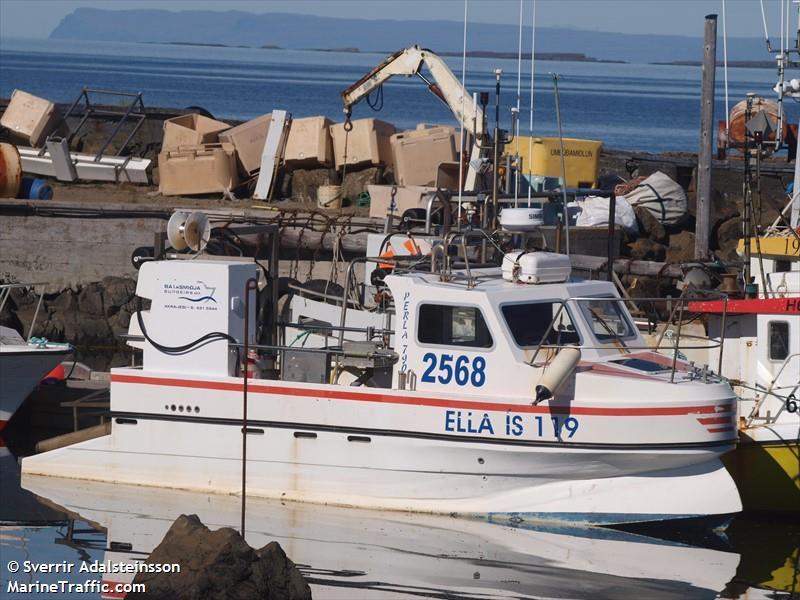 Vessel details for: ELLA IS 119 (Fishing) - MMSI 251396340 ...