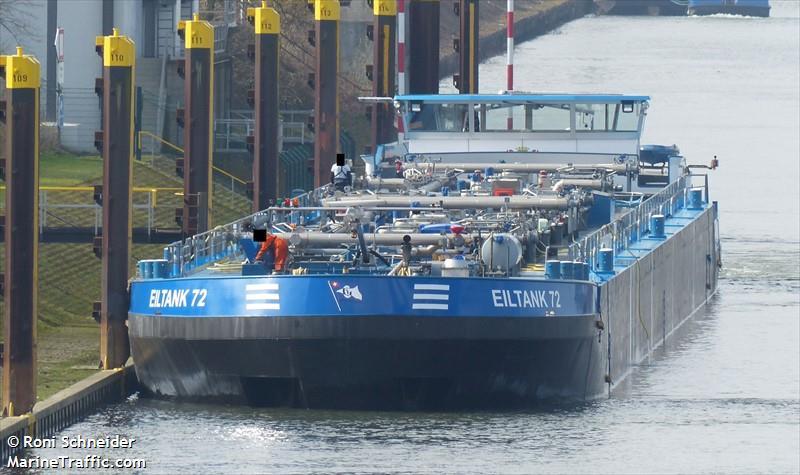 Vessel Details For Eiltank 72 Inland Motor Tanker