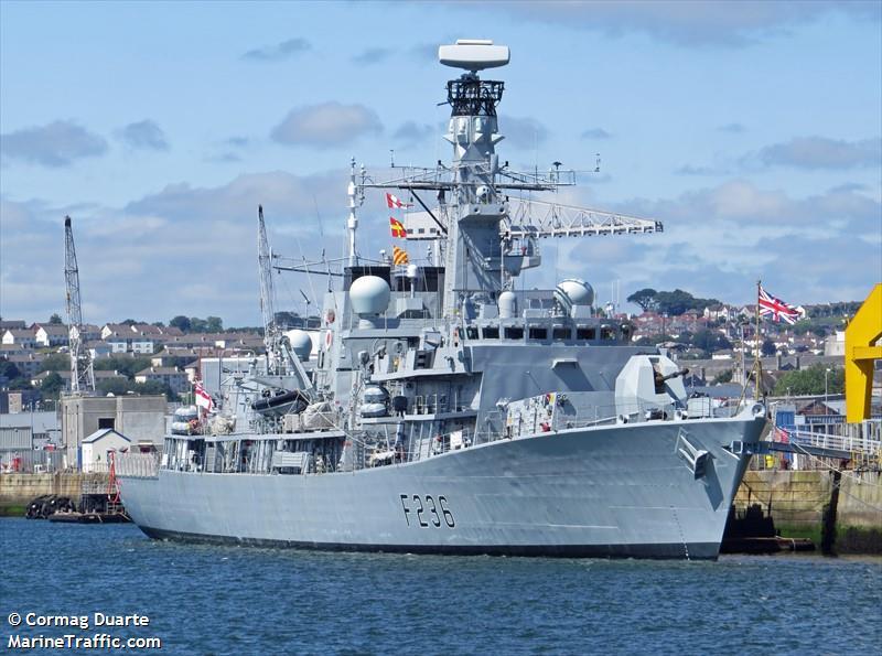 BRITISH WARSHIP F236
