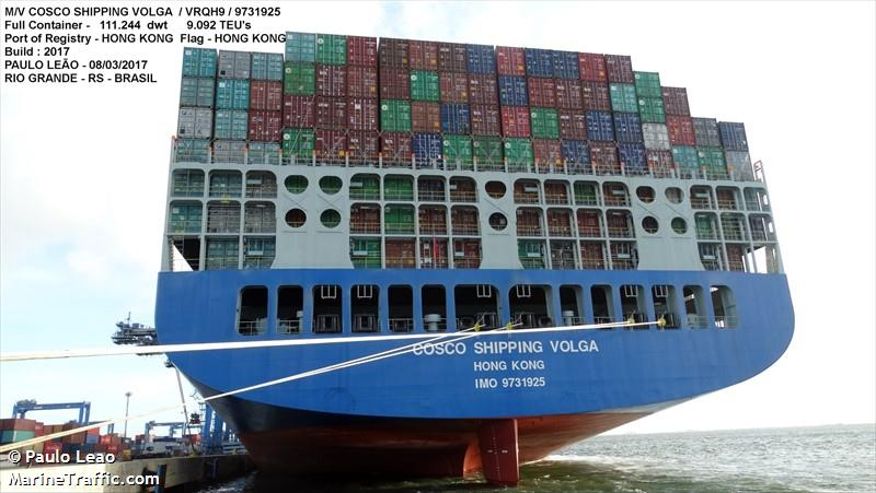 COSCO SHIPPING VOLGA, Container ship, IMO 9731925 | Vessel