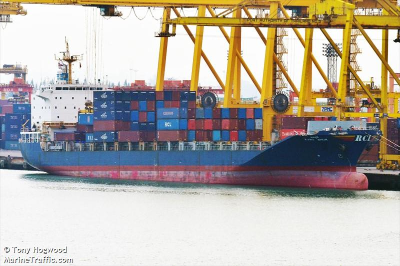 Vessel details for: KAMA BHUM (Container Ship) - IMO 9133331