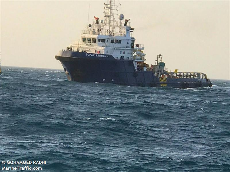 TOPAZ KARAMA, Offshore supply vessel, IMO 9591260 | Vessel details