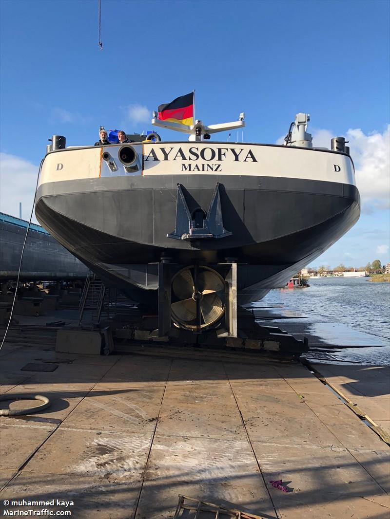 Vessel Details For Ayasofya Inland Motor Tanker Mmsi