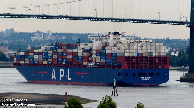Vessel Details For: APL DUBLIN (Container Ship)