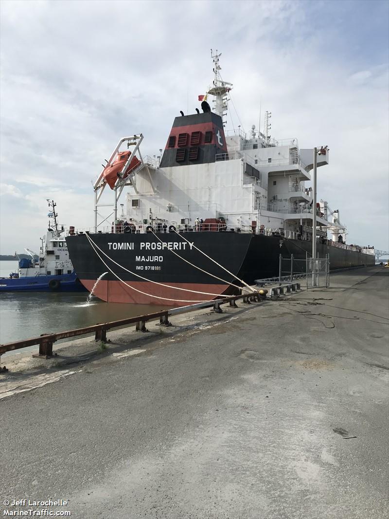 vessel details for tomini prosperity bulk carrier imo 9718181