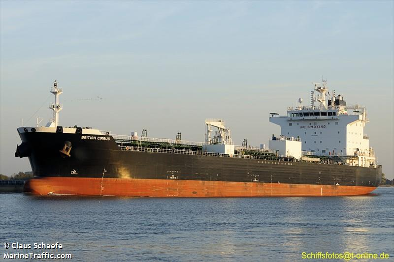 Vessel details for: BRITISH CIRRUS (Oil/Chemical Tanker) - IMO