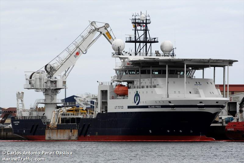 Vessel details for: ISLAND PRIDE (Supply Vessel) - IMO 9630547, MMSI